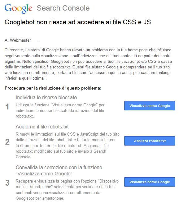 Google file CSS e JS