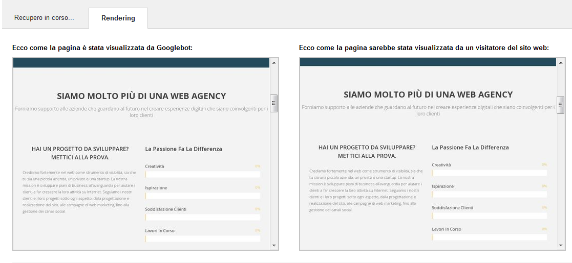 Visualizza come Google