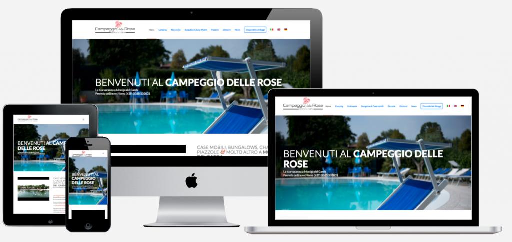 realizzazione sito web campeggio delle rose