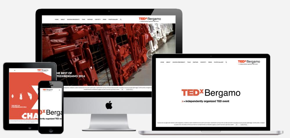 realizzazione sito web TEDx Bergamo
