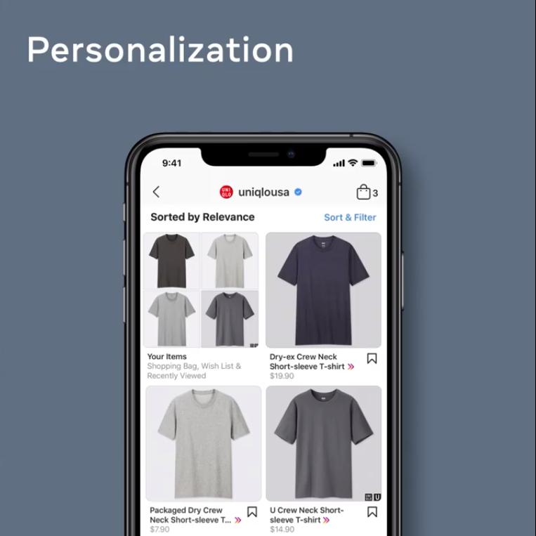 Facebook Shops personalization